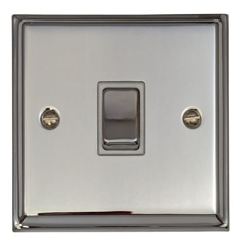 G&H DC201 Deco Plate Polished Chrome 1 Gang 1 or 2 Way Rocker Light Switch